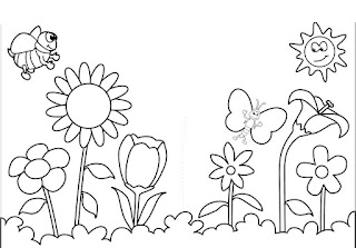 Spring Springtime coloring pages colouring coloring.filminspector.com