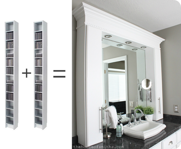 Master Bathroom Makeover Reveal CD Towers Turned Vanity Storage - Bathroom vanities with tower storage