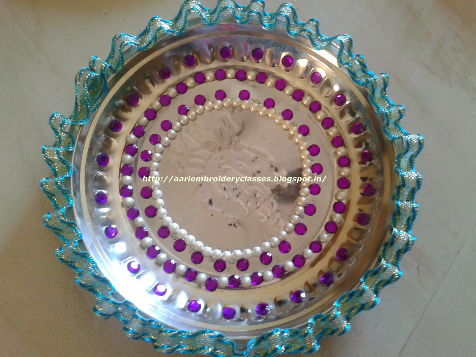 MARI AARI CREATIONS & MARI FASHION BOUTIQUE : WEDDING AARATHI PLATES