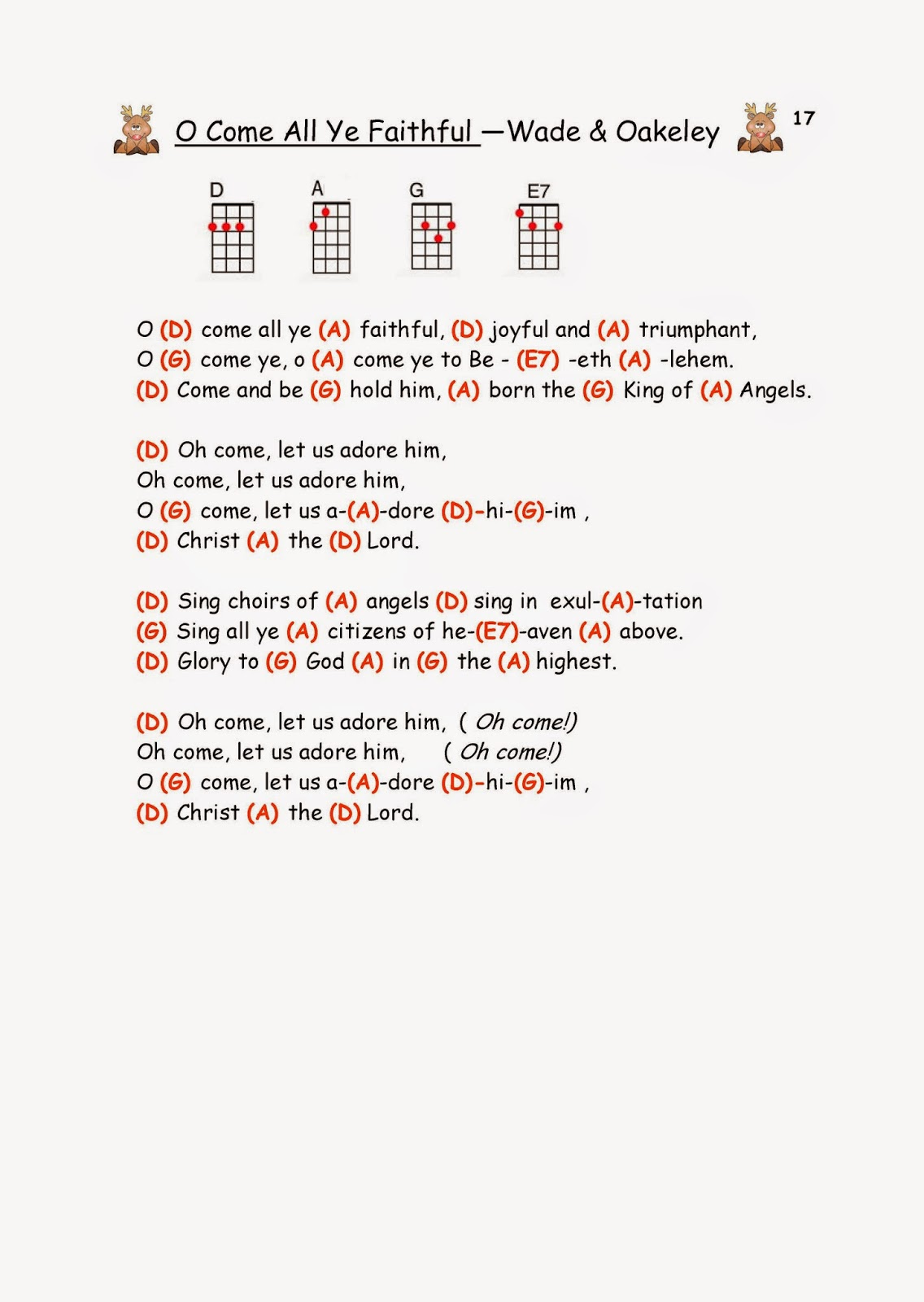 O come let us adore him guitar chords image collections guitar let us adore fatherlandz free guitar chords free christmas guitar chords allandc fatherlandz image collections hexwebz Image collections
