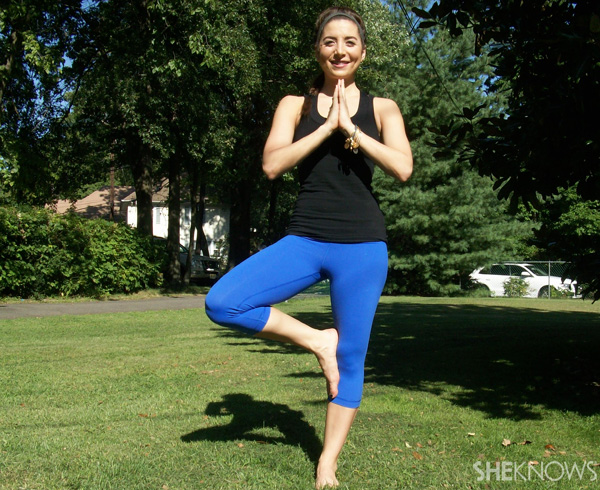 yoga tree pose branches