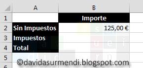 Ejemplo para el uso de Constantes en una Fórmula de Excel.