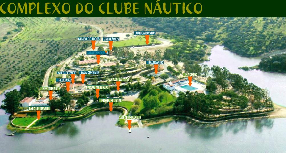 Zonas das Infra-estruturas do Complexo do Clube Náutico