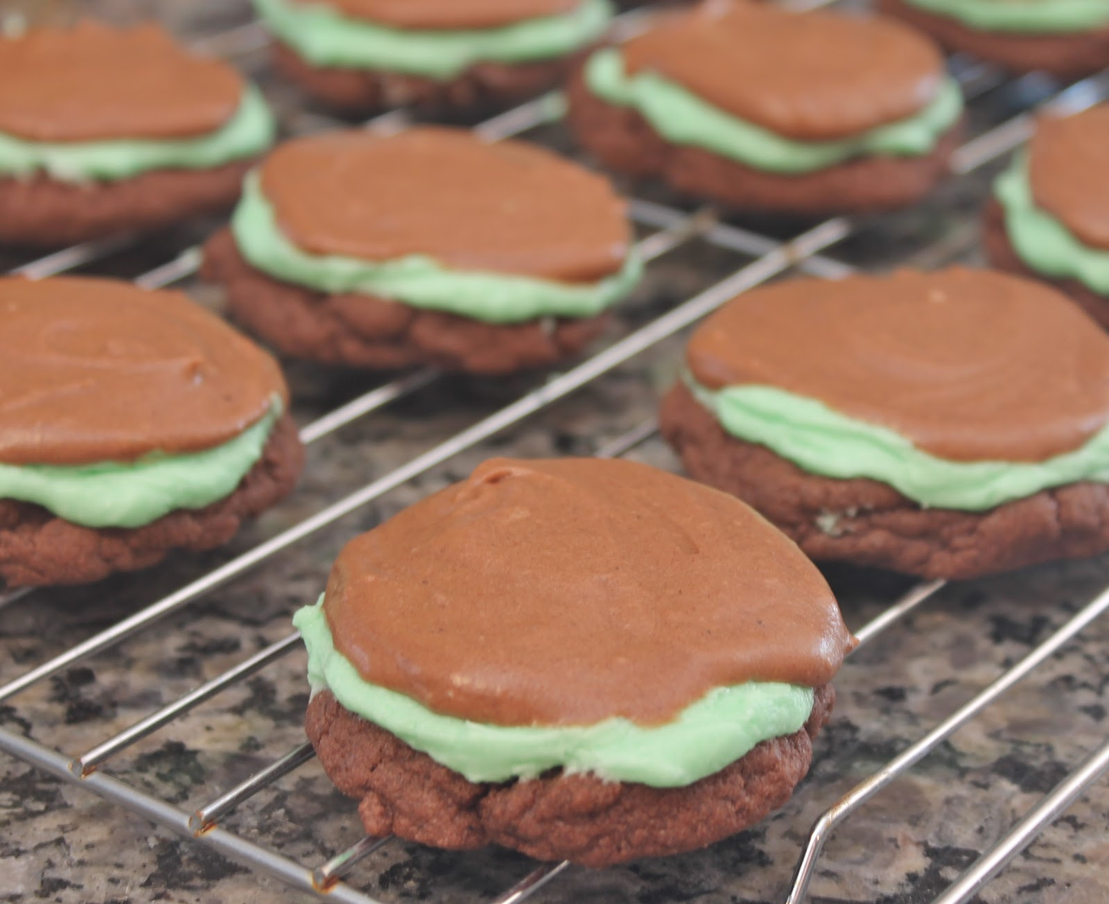Grasshopper Brownie Cookies Recipe — Dishmaps