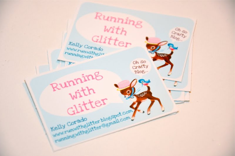 Running with glitter mommy blog business card free for Mommy business cards