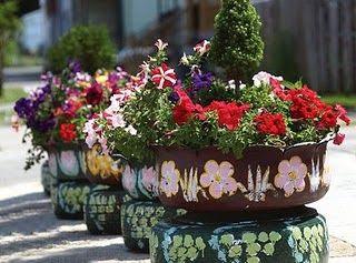 Aprenda  O Fazer Vasos De Planta Reciclando Pneus   O Po A