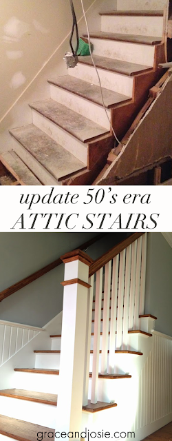 50's era attic stair update