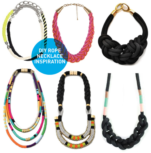 Rope Necklace on Spy Diy   Diy Inspiration  Rope Necklaces
