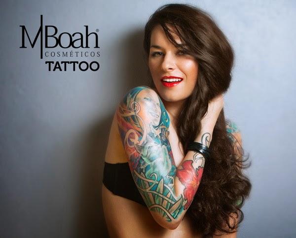 Cosméticos para a pele tatuada