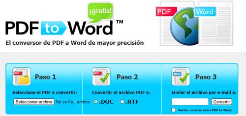 Convertir archivos PDF a DOC