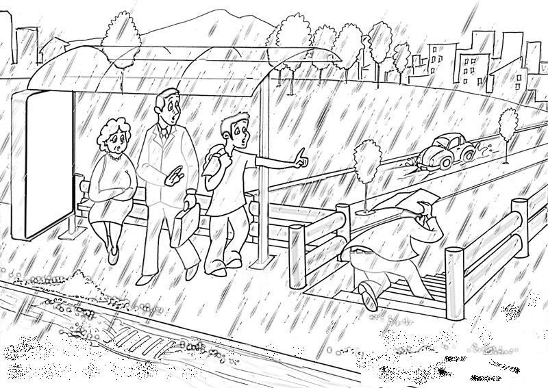 Dibujos para colorear de los desastres naturales - Imagui
