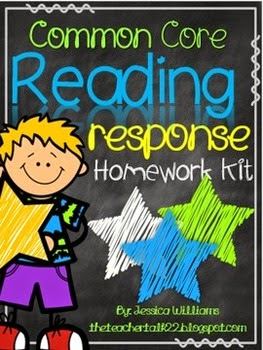 http://www.teacherspayteachers.com/Product/Reading-Response-Homework-Kit-776991
