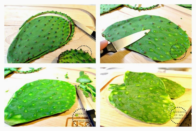 mexico in my kitchen how to cook cactus paddles nopales ForCocinar Nopal