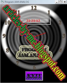 Contoh Program Jam ANALOG dan DIGITAL