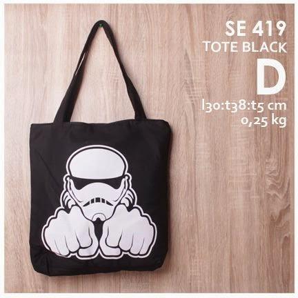 online shop jual tote bag pria harga murah gambar/ logo beragam