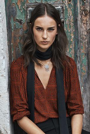 moda otoño invierno H&M blusa estampada