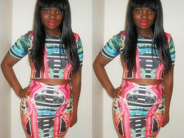 OOTD| BEYONCE TWO PIECE AZTEC SKIRT AND CROP TOP FROM FD AVENUE