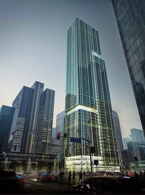 Tổ hợp Bravo Group Pazhou tạiGuanzhou, Trung Quốc - Công ty dịch vụ kiến trúc Aedas thiết kế (lọt vào danh sách công trình Văn phòng)