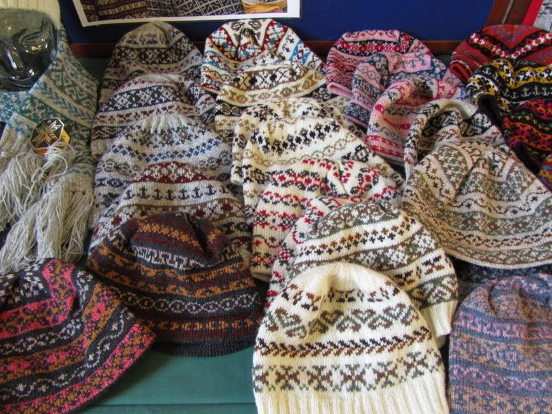 Fair Isle: Fair Isle Crafts Knitwear & Knitting table display for ...