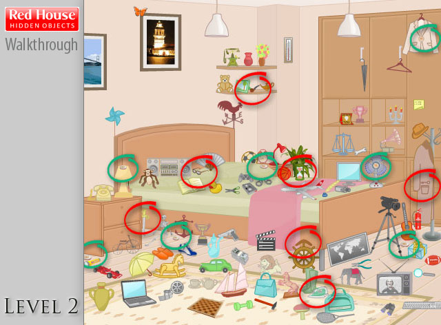 Red House Hidden Objects Level 2