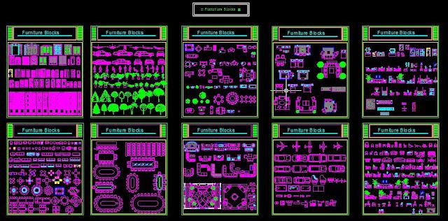 collection de blocs autocad dwg Une+grande+biblioth%C3%A8que+de+blocs+Autocad+dwg