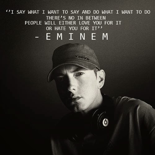 gallery for eminem quotes about haters