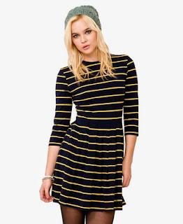 siyah çizgili elbise
