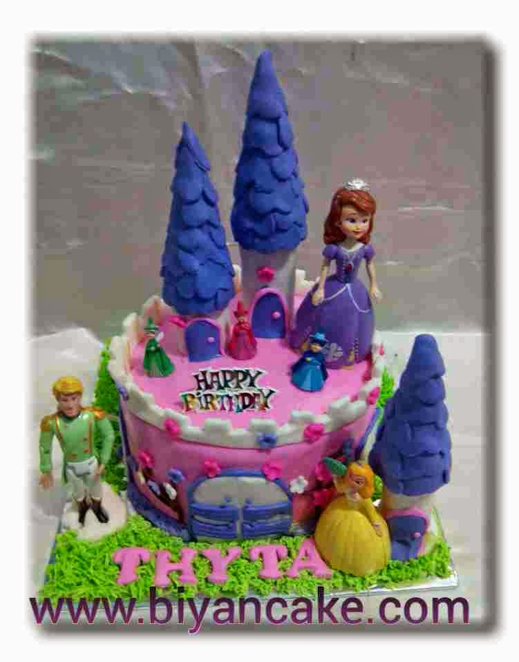 Castle cake sofia the first ~ Thyta