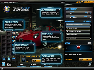 Need For Speed World - Car Dealer