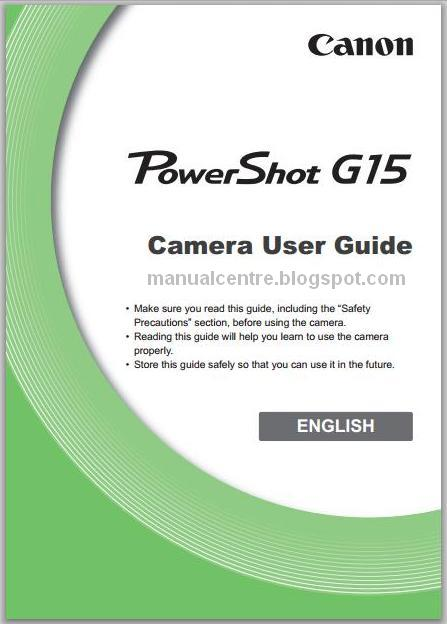 Canon PowerShot G15 Manual Cover