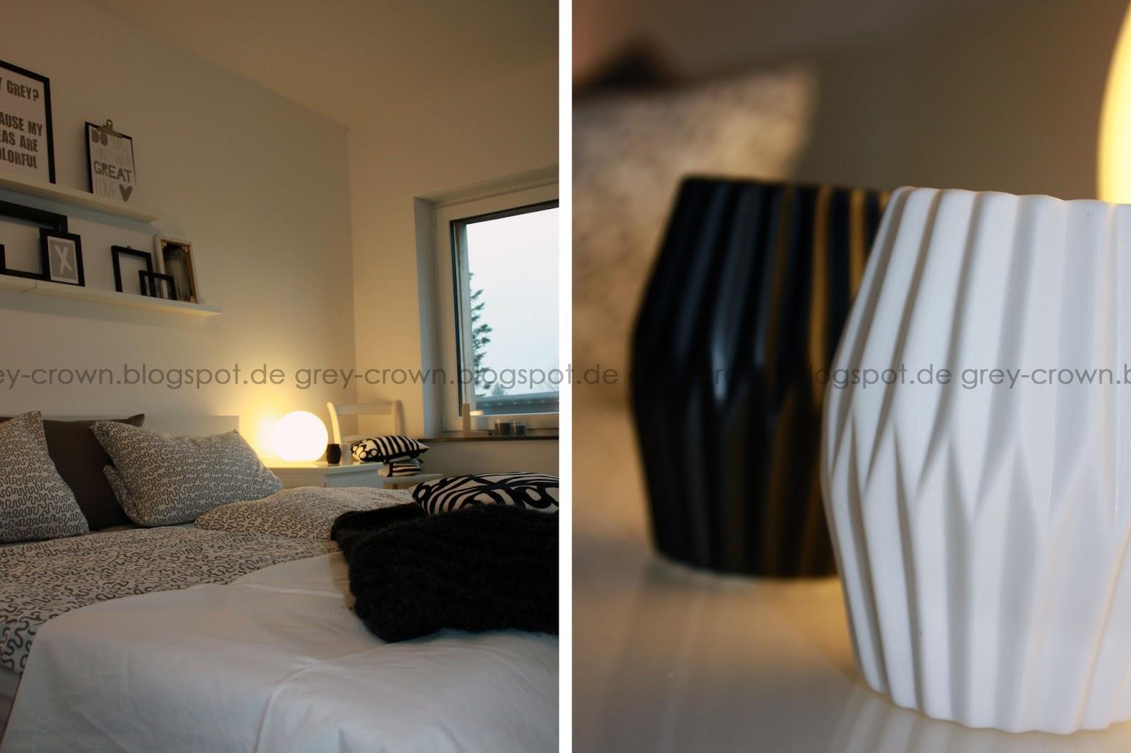 grey crown: Blick ins Schlafzimmer