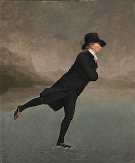 Sir Henry Raeburn painting - Reverend Robert Walker Skating on Duddingston Loch