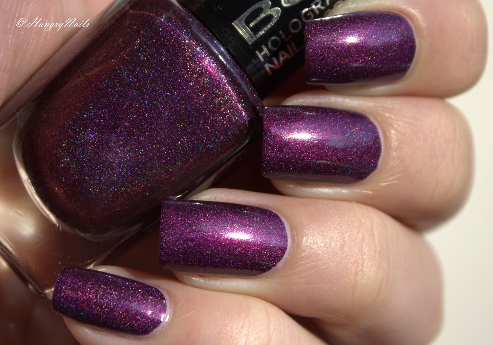 swatches beyu holographic violet illusion hungrynails blog die bunte welt der nagellacke. Black Bedroom Furniture Sets. Home Design Ideas