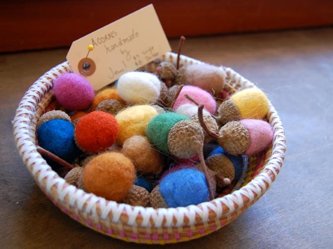 Market adorable handmade acorns made by jenn