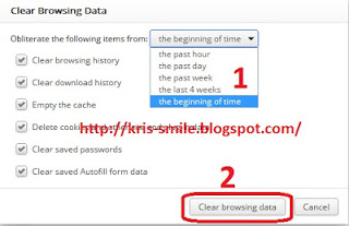 clear all browsing data Google chrome1