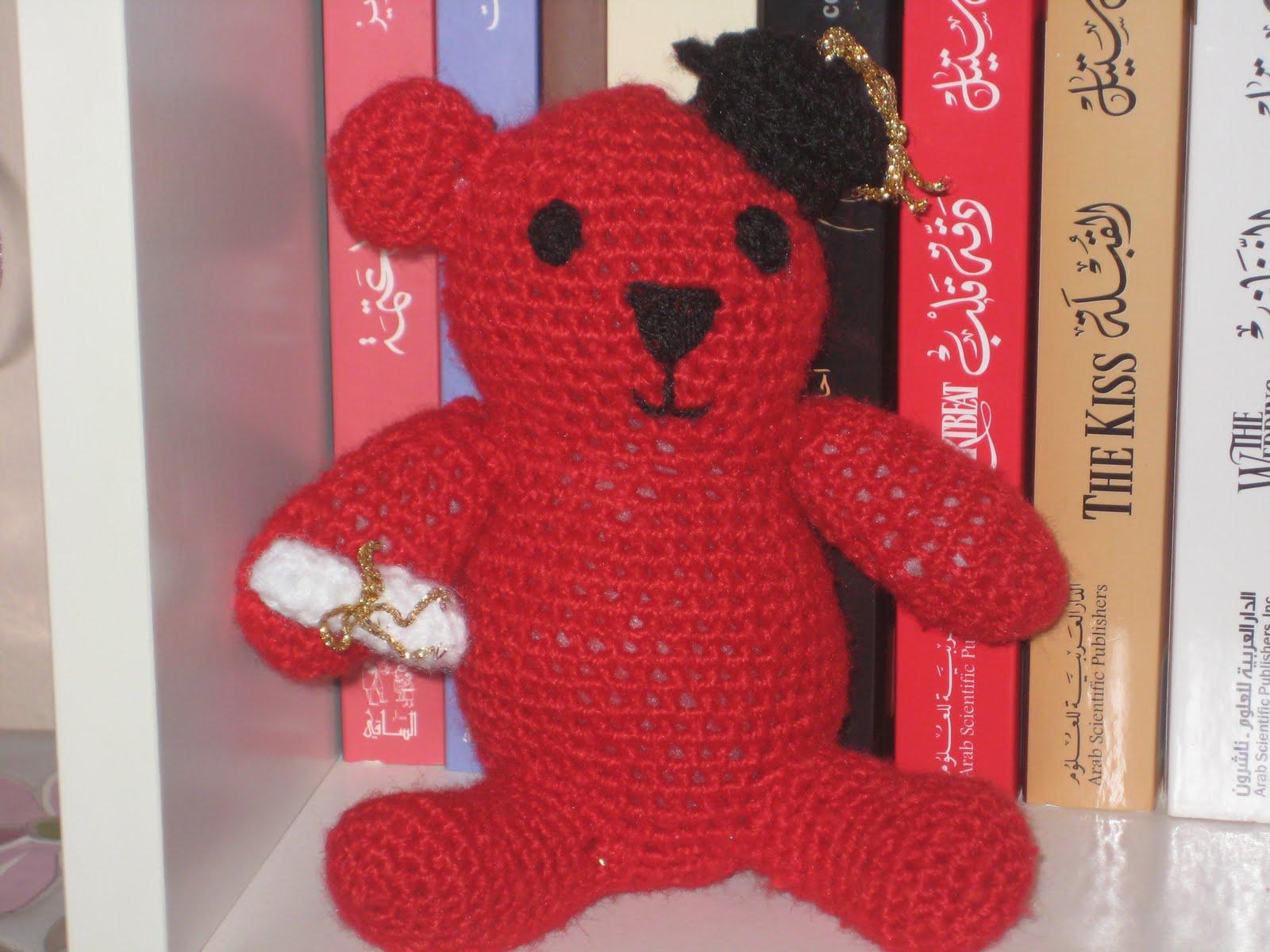Crochet Amigurumi Graduation Bear manal311