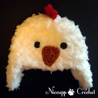 {NiccuppCrochet} Chicken Hat