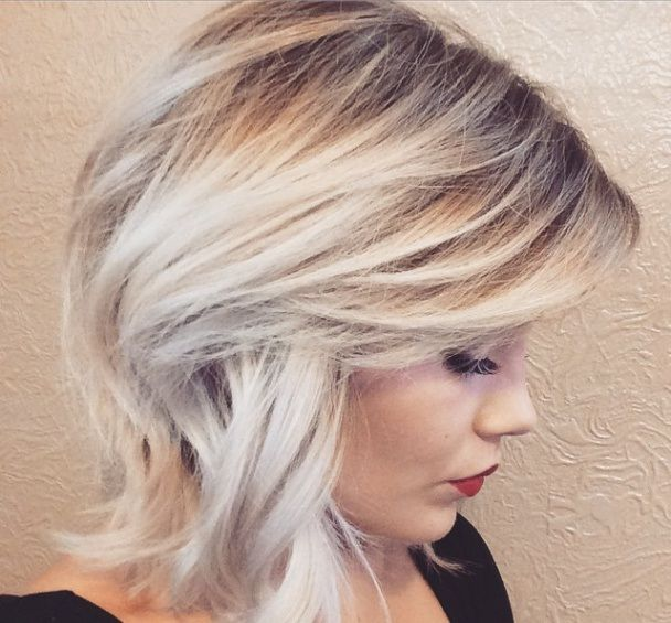 Platinum ombre hairstyles photos and video tutorials for Ombre mittellang
