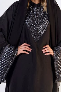 Embroidered work on Abaya Styles