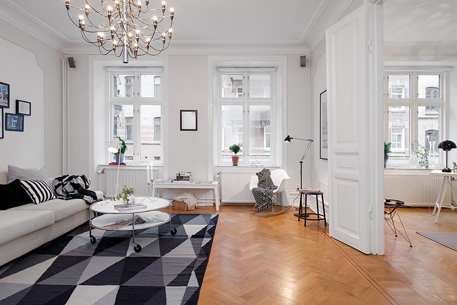 Decoraci n f cil apartamento estilo nordico en blanco for Decoracion apto