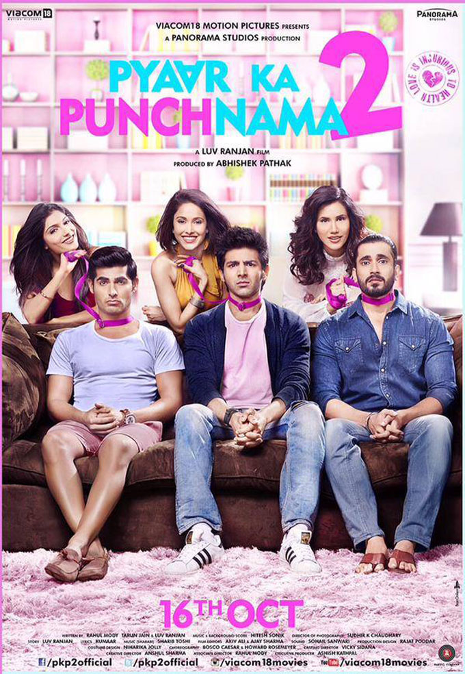 full cast and crew of bollywood movie Pyaar Ka Punchnama 2 2015 wiki, Kartik Aaryan, Nushrat Bharucha story, release date, Actress name poster, trailer, Photos, Wallapper