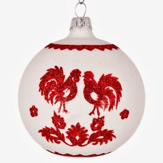 Dekoracja świąteczna z ludowym motywem
