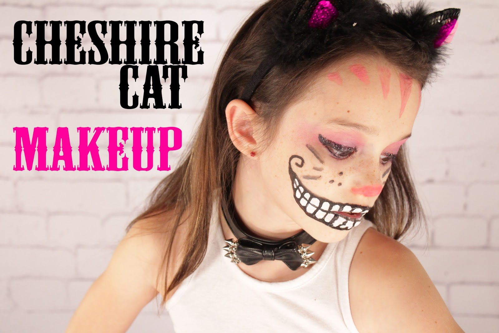 Grosgrain Cheshire Cat Face Halloween Makeup - Cheshire-cat-makeup-tutorial-you