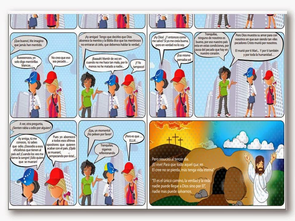"""CÓMICS (MATERIAL DE EVANGELISMO):   """"VENEZUELA ¿QUIÉN TIENE LA CULPA?"""