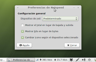 Preferencias de Netspeed