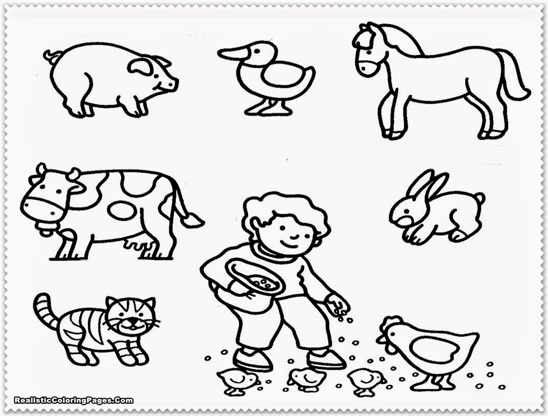 Farm animal coloring pages realistic coloring pages for Farm animal coloring pages