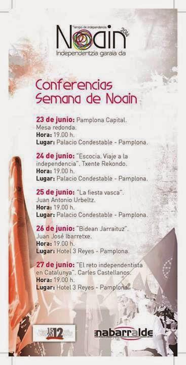 CONFERENCIAS DE LA SEMANA DE NOAIN