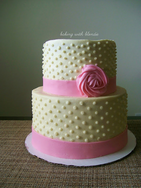 Baking with Blondie : Polka Dot Cake with Fondant Ribbon ...