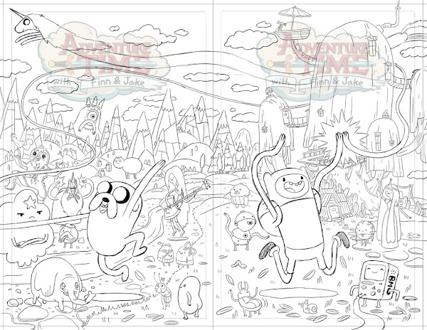 adventure time characters coloring pages - photo#34