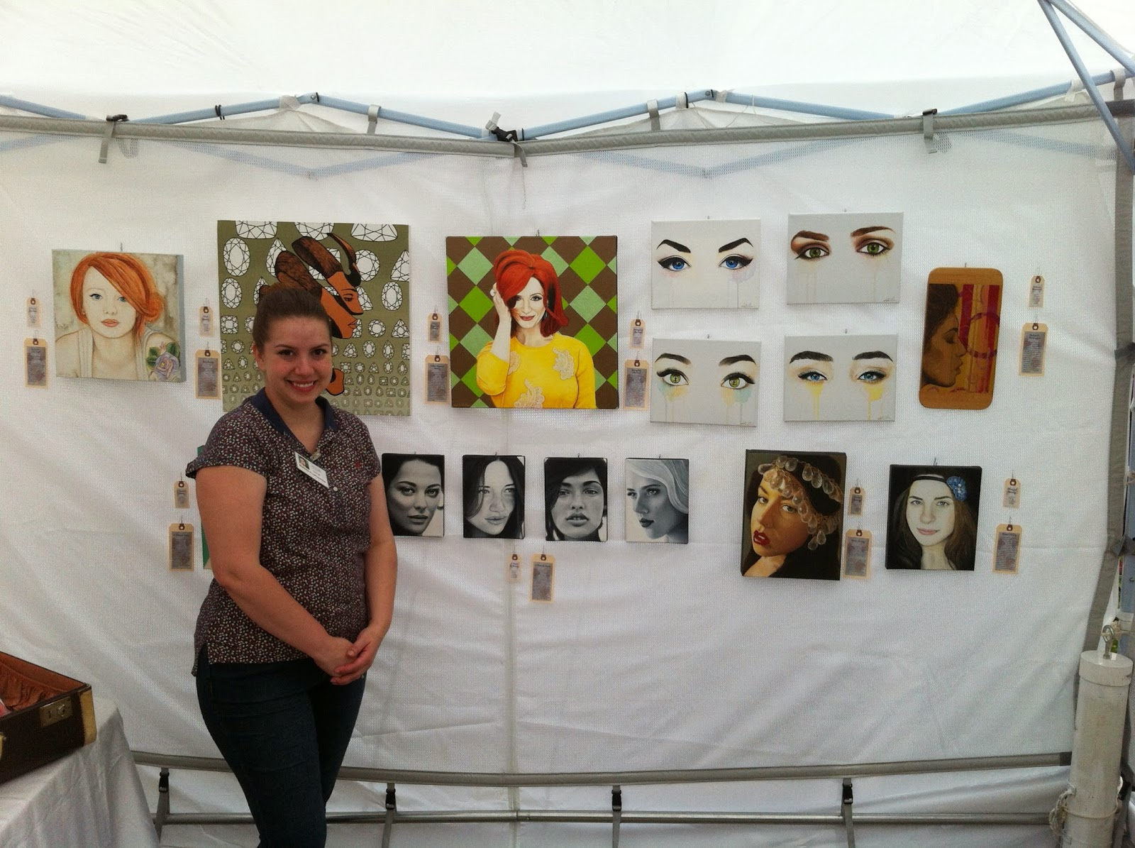 art walk north, artists network, north york art festival, toronto art, malinda prudhomme, portrait artist, awn, portrait painting, beauty art
